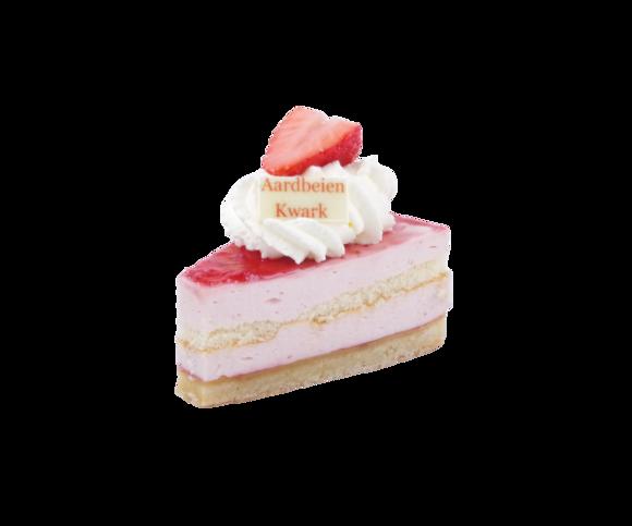 Afbeelding van Aardbei kwark gebak