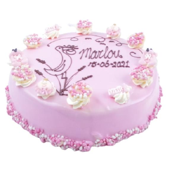 Afbeelding van Baby taart meisje